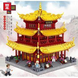 ZHEGAO QL0932 0932 Xếp hình kiểu Lego Chinese Famous Architecture Hunan Yueyang Yueyang Tower Tháp Nhạc Dương, Nhạc Dương, Hồ Nam 3267 khối