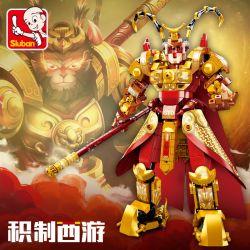 SLUBAN M38-B0932 B0932 0932 M38B0932 38-B0932 Xếp hình kiểu Lego MONKIE KID Standby Monkey Wang Qi Tian Dasheng Vua Khỉ Vua Khỉ 615 khối