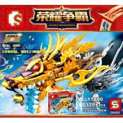 SHENG YUAN SY 11890 Xếp hình kiểu Lego KING OF GLORY HEGEMONY Donghai Longwang Dragon Biển đông Rồng Vua Rồng 375 khối