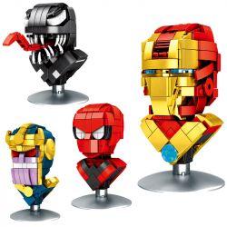 DINGGAO DG3001A 3001A DG3001B 3001B DG3001C 3001C DG3001D 3001D Xếp hình kiểu Lego Star Soldier Gundam The Avatar Is 4 Deadlocks, Spiders, Darkness, Steel Warfare 4 Chân Dung đầu Deadly Symbiote, Spid