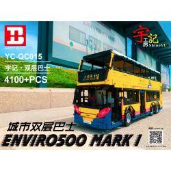 HAPPY BUILD YC-QC015 QC015 YCQC015 Xếp hình kiểu Lego BUILD TEAM TransBus Enviro 500 Mark I Yudu House City Double-layer Bus Xe Buýt Hai Tầng Thành Phố 4100 khối
