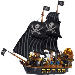 ZHEGAO QL1804 1804 Xếp hình kiểu Lego PIRATES OF THE CARIBBEAN Pieares Kingdom Pirate Kingdom Pirate Ship Black Eagle Tàu Cướp Biển đại Bàng đen 1352 khối