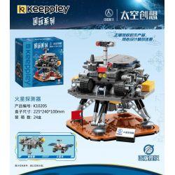 KEEPPLEY K10205 10205 Xếp hình kiểu Mini Blocks Space Becomes Mars Detector Máy Dò Sao Hỏa 495 khối