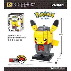 KEEPPLEY K20201 20201 Xếp hình kiểu Mini Blocks POKÉMON Pokemon Treasure Dream Pika Cos Rocket Tên Lửa Pika Cos.