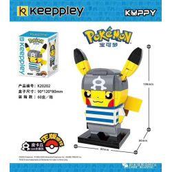 KEEPPLEY K20202 20202 Xếp hình kiểu Mini Blocks POKÉMON Pokemon Treasure Dream Pikaqiu COS Water Fleet Pikachu COS Hạm đội Nước
