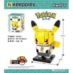 KEEPPLEY K20203 20203 Xếp hình kiểu Mini Blocks POKÉMON Pokemon Treasure Dream Pikaqiu COS Galaxy Team Pikachu COS Đội Galaxy