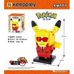 KEEPPLEY K20204 20204 Xếp hình kiểu Mini Blocks POKÉMON Pokemon Treasure Dream Pikachkchu COS Flame Team Đội Flash Pikachu COS