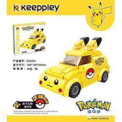 KEEPPLEY K20205 20205 Xếp hình kiểu Mini Blocks POKÉMON Pokemon Treasure Dream Pikaixiao Mini Car Pikaixiao Mini Car.