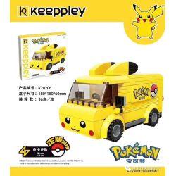 KEEPPLEY K20206 20206 Xếp hình kiểu Mini Blocks POKÉMON Pokemon Treasure Dream Pika Buses Xe Buýt Pikachu