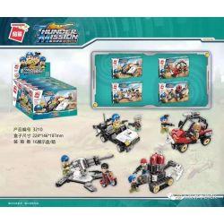 Enlighten 3210-1 3210-2 3210-3 3210-4 Qman 3210-1 3210-2 3210-3 3210-4 Xếp hình kiểu Lego Thunder Mission 4 4 Mô Hình gồm 4 hộp nhỏ 448 khối