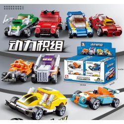 SLUBAN M38-B0885 B0885 0885 M38B0885 38-B0885 Xếp hình kiểu Lego FANATICAL RACING Power Standard Rolley Car 8 8 Kéo Lùi ô Tô
