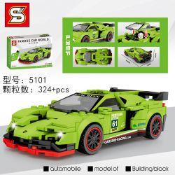 SHENG YUAN SY 5101 Xếp hình kiểu Lego RACERS Famous Car World Lamborghini Veneno Famous Car Lamborghini Poison Lamborghini độc 324 khối