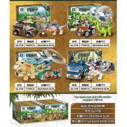 ZHEGAO QL1718 1718 Xếp hình kiểu Lego JURASSIC WORLD Dinosaur World Dinosaur Fighting Alliance Liên Minh Chinh Phục Khủng Long 714 khối