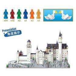 KAIYU K86201 86201 Xếp hình kiểu Lego CREATOR Neuschwanstein Castle, Bavaria Lâu đài Neuschwanstein, Bavaria, Đức 13500 khối