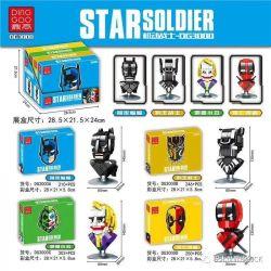 DINGGAO DG3000A 3000A DG3000B 3000B DG3000C 3000C DG3000D 3000D Xếp hình kiểu Lego Star Soldier Gundam Avatar 4 Night Bats, Leopard King Warrior, Evil Clown, Death Waiter Chân Dung 4 Loại Dơi đêm đen,