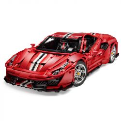 DOUBLEE CADA C61042 61042 C61043 61043 Xếp hình kiểu Lego TECHNIC Master Ferrari 488 Ferrari 488 1 8 Ferrari 488 1 8 gồm 2 hộp nhỏ 3229 khối