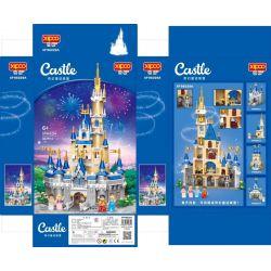 XIPOO XP96029A 96029A Xếp hình kiểu Lego DISNEY PRINCESS Fantasy Fairy Castle 4 Combinations Lâu đài Cổ Tích Giả Tưởng 4 Kết Hợp 1024 khối