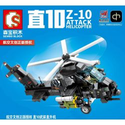 SEMBO 202122 Xếp hình kiểu Lego SKY WARS Z-10 Attack Helicopter Airland Straight 10 Armed Helicopters 10 Trực Thăng 356 khối
