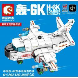 SEMBO 202120 202120 Xếp hình kiểu Lego SKY WARS H-6K Bomber Aircraft Airland China Boom - 6k Type Remote Bomber Máy Bay Ném Bom Tầm Trung Và Tầm Xa H-6K Của Trung Quốc gồm 2 hộp nhỏ 355 khối