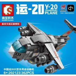 SEMBO 202123 Xếp hình kiểu Lego SKY WARS Y-20 Transport Plane Airland China Transport 20 Large Multi-purpose Transporter Máy Bay Vận Tải đa Năng Cỡ Lớn China Yun 20 362 khối