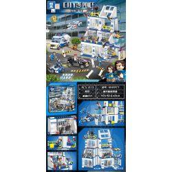 ZHEGAO QL0561 0561 Xếp hình kiểu Lego City Police Urban Police City Prison Style Nhà Tù Thành Phố Bão 583 khối