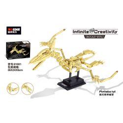 DECOOL 81001 Xếp hình kiểu Lego DINO Dinosaur World Pterodactyl Wing Dragon Skeleton Model Mô Hình Bộ Xương Pterosaur 491 khối