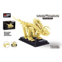 DECOOL 81002 Xếp hình kiểu Lego DINO Dinosaur World Triceratops Triangle Dragon Skeleton Model Mô Hình Bộ Xương Triceratops 455 khối