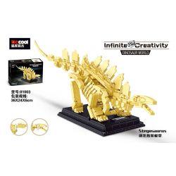 DECOOL 81003 Xếp hình kiểu Lego DINO Dinosaur World Stegosaurus Jianlong Skeleton Model Mô Hình Bộ Xương Stegosaurus 491 khối