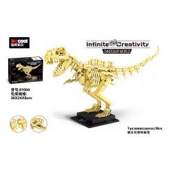 DECOOL 81004 Xếp hình kiểu Lego DINO Dinosaur World Tyrannosaurus Rex Overlord Dragon Skeleton Model Mô Hình Bộ Xương Khủng Long Bạo Chúa 523 khối
