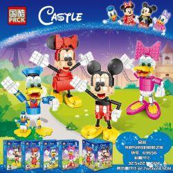 PRCK 69656 Xếp hình kiểu Lego CASTLE Miqi And Partner's Wonderful Trip 4 Hành Trình Tuyệt Vời Của Mickey Với Các đối Tác 4 Kiểu