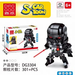DINGGAO DG3304 3304 Xếp hình kiểu Lego BRICKHEADZ S-Cartoon Darth Vader Movable Header Star Wardas Vader Chiến Tranh Giữa Các Vì Sao Darth Vader 301 khối