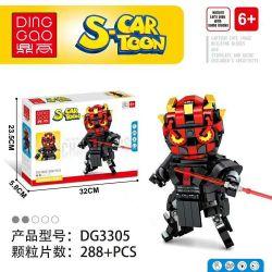 DINGGAO DG3305 3305 Xếp hình kiểu Lego BRICKHEADZ S-Cartoon Darth Maul Movable Header Star Wars Das Moore Chiến Tranh Giữa Các Vì Sao Darth Moore 288 khối