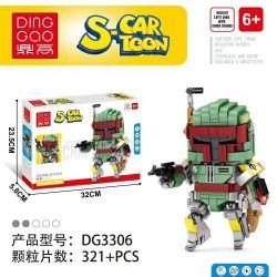 DINGGAO DG3306 3306 Xếp hình kiểu Lego BRICKHEADZ S-Cartoon Boba Fett Movable Header Star Wars Boba Fet Chiến Tranh Giữa Các Vì Sao Boba Fett 321 khối