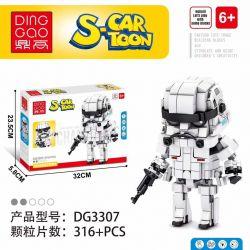 DINGGAO DG3307 3307 Xếp hình kiểu Lego BRICKHEADZ S-Cartoon Movable Header Star Wars Storm Star Wars Storm. 316 khối
