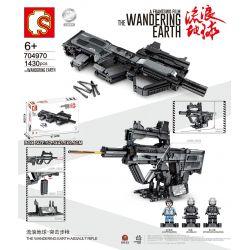 SEMBO 704970 Xếp hình kiểu Lego THE WANDERING EARTH The Wandering Earth Assault Rifle Súng Trường Tấn Công 1430 khối
