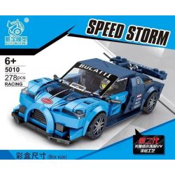 KUYU MOXING 5010 QUANGUAN QUAN GUAN 100133 Xếp hình kiểu Lego SPEED CHAMPIONS Racing Bugatti Chiron Famous Car Bugatti Chiron. 278 khối