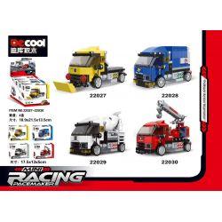 DECOOL 22027 22028 22029 22030 Xếp hình kiểu Lego MINI RACING PACEMAKER Back Car 4 Rescue Vehicles, Bread Trucks, Cement Mixers, Fire Cranes 4 Loại Xe Cứu Hộ, Xe Tải, Xe Trộn Xi Măng Và Xe Cẩu Chữa Ch