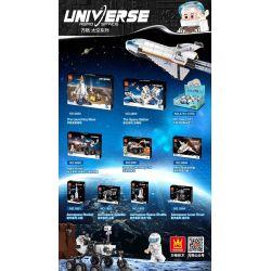 WANGE 1804 Xếp hình kiểu Lego Aerospace-Lunar Rover Aerospace Series Moon Mặt Trăng