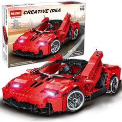 HSANHE 6951 Xếp hình kiểu Lego SPEED CHAMPIONS Creative Idea Lamborghini Lamborghini Red Sports 1 16 Xe Thể Thao Màu đỏ Lamborghini 1 16 1138 khối