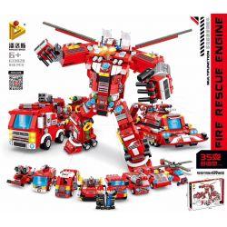 PanlosBrick 633028 Panlos Brick 633028 Xếp hình kiểu Lego FIRE RESCURE Multifunction Fire Rescue Engine Multi-function Rescue Fire Truck 35 Change Xe Cứu Hỏa Cứu Hộ đa Năng 35 836 khối