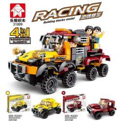 LEYI 31009A 31009B 31009C 31009D Xếp hình kiểu Lego RACING Passion Car 8x8 Off-road Vehicle 4 Combinations Xe địa Hình 8x8 Kết Hợp 4 gồm 4 hộp nhỏ 359 khối