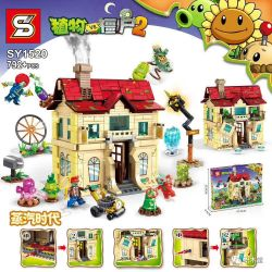 SHENG YUAN SY SY1520 1520 Xếp hình kiểu Lego PLANTS VS ZOMBIES Plant VS Zombie 2 Steampunk Era Kỷ Nguyên Steampunk 792 khối