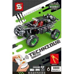 SHENG YUAN SY 8880 Xếp hình kiểu Lego TECHNIC Double Monster Motor Combination 1 10 Tổ Hợp động Cơ đôi Quái Vật 1 10 1233 khối