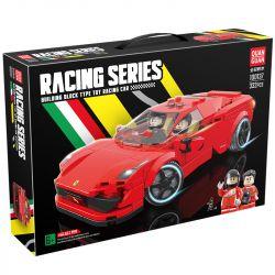 QUANGUAN 100137 Xếp hình kiểu Lego SPEED CHAMPIONS Racing Ferrari 458 Famous Car Ferrari 458. 332 khối