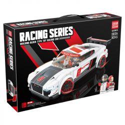 QUANGUAN 100134 Xếp hình kiểu Lego SPEED CHAMPIONS Racing Audi R8 Famous Car 362 khối