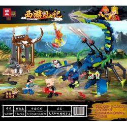 ZHEGAO QL1639 1639 Xếp hình kiểu Lego MONKIE KID Journey To The West Journey War Spider Nei Wang Chiến đấu Với Vua Nhện Và Vua Bọ Cạp 480 khối