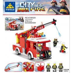 Kazi KY80529 80529 Xếp hình kiểu Lego FIRE RESCURE City Fire Powerful Xe Vòi Rồng Mạnh Mẽ 278 khối