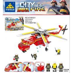 Kazi KY80531 80531 Xếp hình kiểu Lego FIRE RESCURE CH-54 Plane City Fire CH-54 Fire Aircraft Máy Bay Chữa Cháy CH-54 352 khối