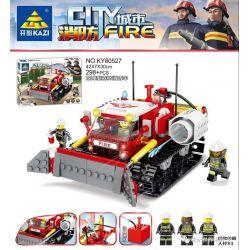 Kazi KY80527 80527 Xếp hình kiểu Lego FIRE RESCURE City Fire Dewined Forest Fire Truck Xe Chữa Cháy Rừng Dỡ Rào 298 khối