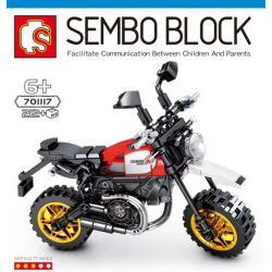 SEMBO 701117 Xếp hình kiểu Lego MOTO Ducati Scrambler Desert Sled Enjoy The Ride Dukadi Desert Sleigh Motorcycle Dukadi Sa Mạc Xe Máy Xe Máy 212 khối